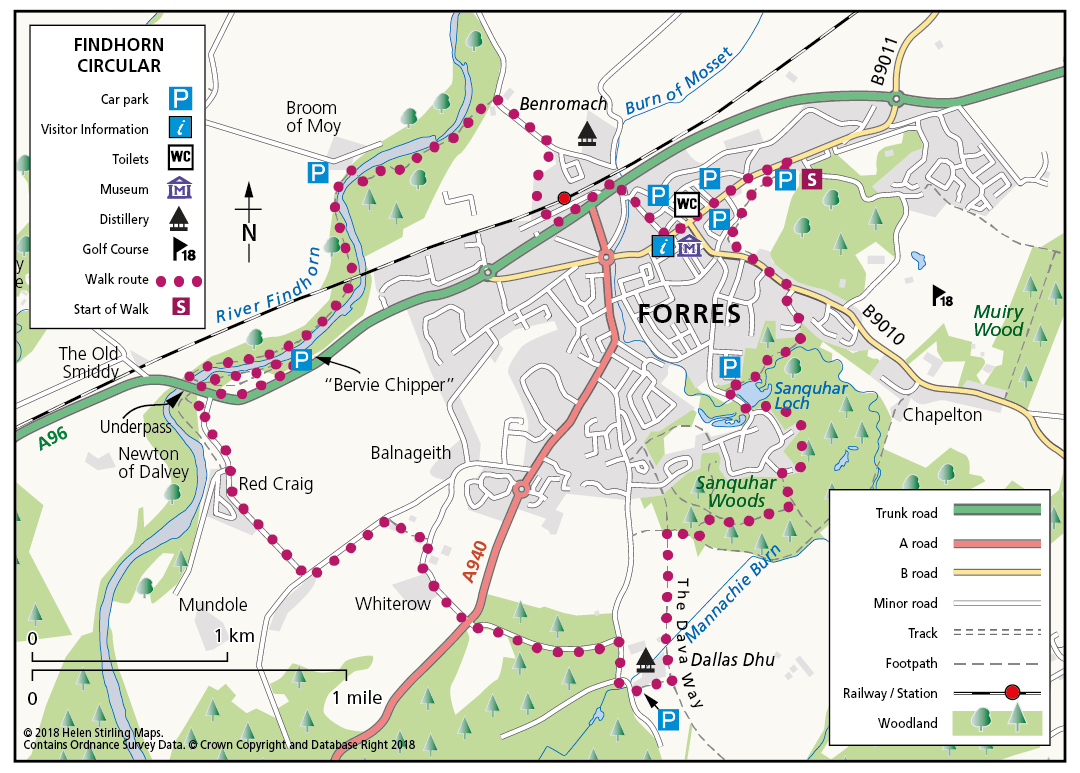 Forres - River Findhorn Circular